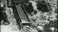 Stock Video Footage of MINERS MINING ORE 1930 (Vintage Film Industrial Home Movie Amateur Footage) 3564