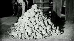 PROCESSING MILLING Ore Factory 1930 (Vintage Film Industrial Home Movie) 3658b - stock footage