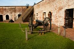 fort and canon - stock photo