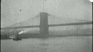 Stock Video Footage of BROOKLYN BRIDGE NCY 1920s 1930s (Vintage Retro Film Home Movie) 3662