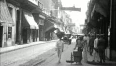 La HAVANA Vieja OLD CITY Cuba Street 1920s 1930s Vintage Film Home Movie 3670 Stock Footage
