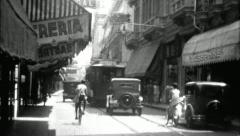 Downtown HAVANA OLD CITY 1920s 1930s Vintage Film Retro Home Movie 3673 Stock Footage