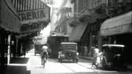 Stock Video Footage of Downtown HAVANA OLD CITY 1920s 1930s (Vintage Film Retro Home Movie) 3673