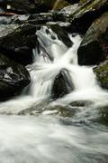 mountain stream closeup - stock photo