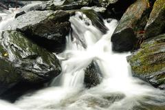 closeup of mountain stream - stock photo
