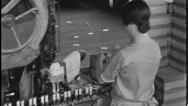 Stock Video Footage of WOMEN AT WORK Factory Production Line Industry 1930 Vintage Film Home Movie 3687