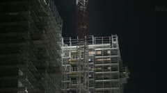 Construction Building site Stock Footage