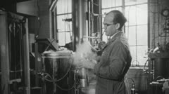 MAD SCIENTIST Laboratory Research Medical 1940s Vintage Film 16mm Footage 3728 - stock footage