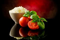 Stock Photo of rice and tomatoes