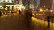 Stock Video Footage of HD timelapse of crowd at street of the lujiazui downtown in shanghai,China