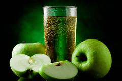 Stock Photo of green apple juice