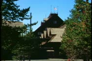 Old Faithful Inn, medium shot, Yellowstone National Park Stock Footage