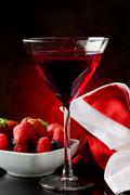 Cocktail with berries Stock Photos