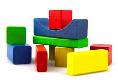 Stock Photo of wooden building blocks