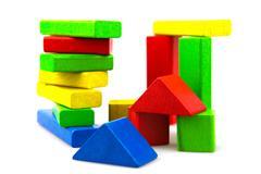 Stock Photo of wooden building blocks