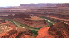 Horse Shoe Bend, Grand Canyon, USA Stock Footage