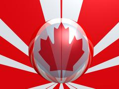 canada national flag - stock photo