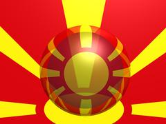Macedonian national flag Stock Photos