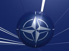 nato flag - stock photo