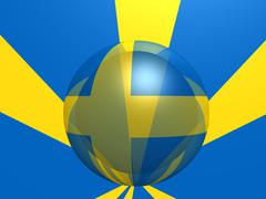sweden national flag - stock photo