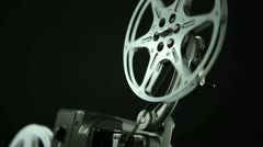 Film Reel 8mm black Stock Footage