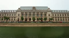 Palace of Justice in Bucharest Romania Stock Footage