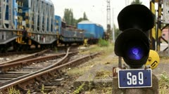 Semaphore on a railway Stock Footage