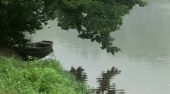 Rowing Boat wide shot Stock Footage