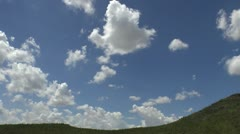 Time Lapse Fluffy Billowy Clouds Landscape Stock Footage