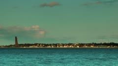 Laboe coastline at sunset, Kiel, Germany, time lapse Stock Footage
