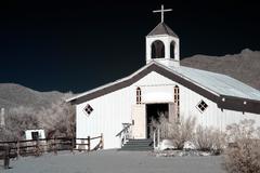 old western church - stock photo