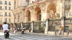 Hôtel de Ville de Lyon is the city hall of the City of Lyon Stock Footage