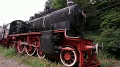 Vintage Locomotive in Sinaia Romania - stock footage