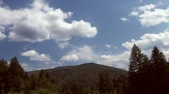 Stock Video Footage of Time Lapse Clouds over Carpathian Mountains