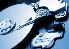 Close up of hard disk Stock Photos