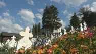 Orthodox Cemetery, Graveyard, Cross, Churchyard, Timelapse Stock Footage