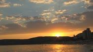 Sunset on Sea Stock Footage