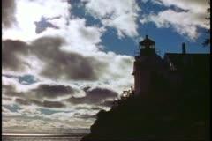 A Lighthouse on the coast of Maine near Acadia National Park, Stock Footage