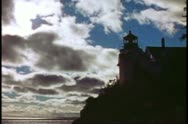 Stock Video Footage of Lighthouse, the coast of Maine, cliffs, rocks, sea, Acadia National Park,
