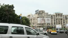 Traffic Goes Slower and Heavier in Bucharest Stock Footage