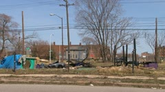 Detroit's urban blight Stock Footage