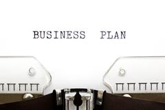 typewriter business plan - stock photo