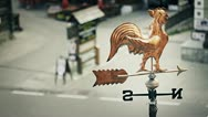 Weather Vane on the Roof Stock Footage