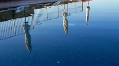 A pool like a mirror Stock Footage