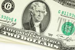 two dollar bill - stock photo