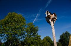 A tall bird house Stock Photos