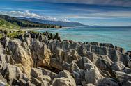 Stock Photo of pancake rocks, punakaiki, west coast, new zealand