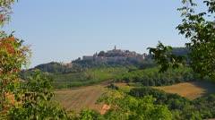 Montelparo (Marche): italian town landscape Stock Footage