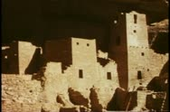 Stock Video Footage of Cliff houses, medium shot, Mesa Verde National Park, Colorado