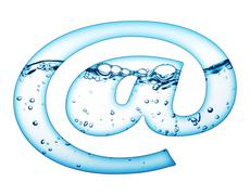 One letter of water wave alphabet Stock Photos